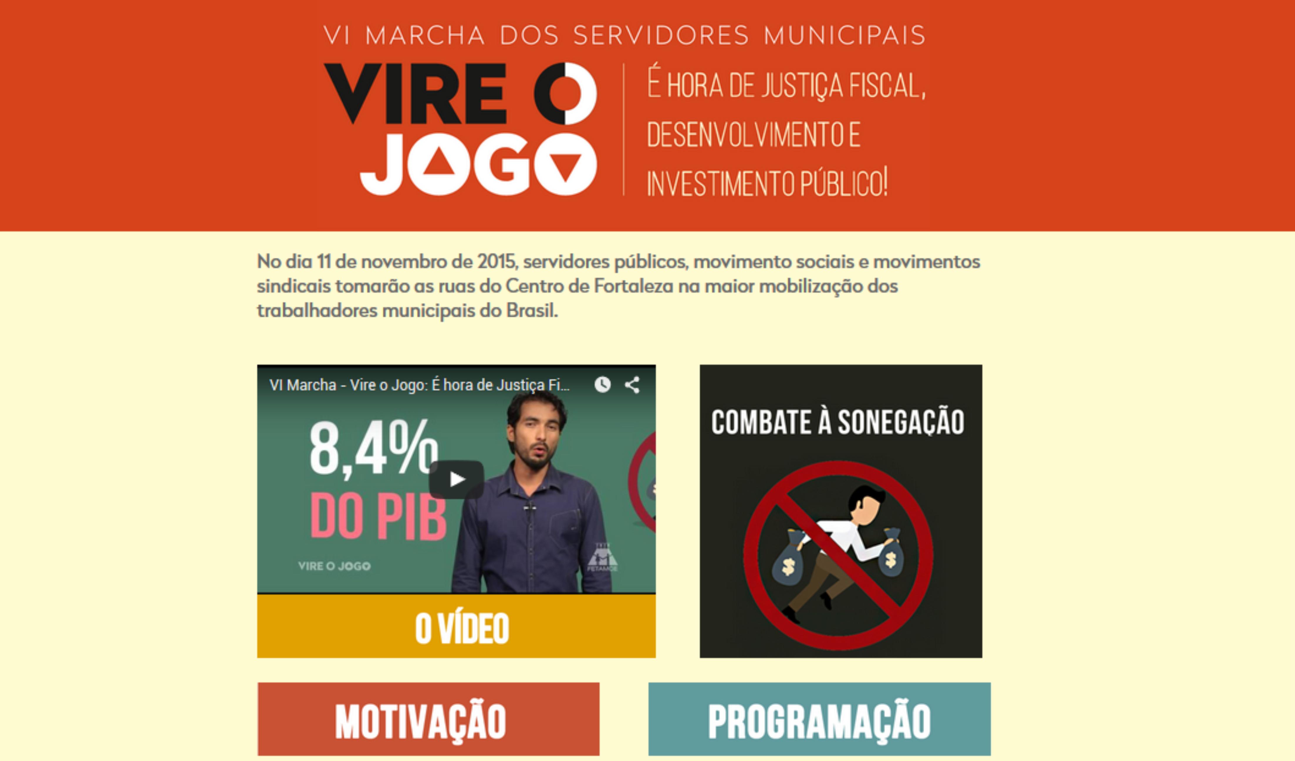 """Fetamce lança hotsite com conteúdo da campanha """"Vire o Jogo"""""""